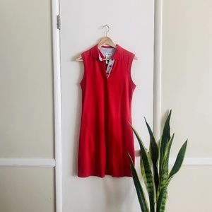Vintage White Stag Red Sleeveless Shift Dress sz S